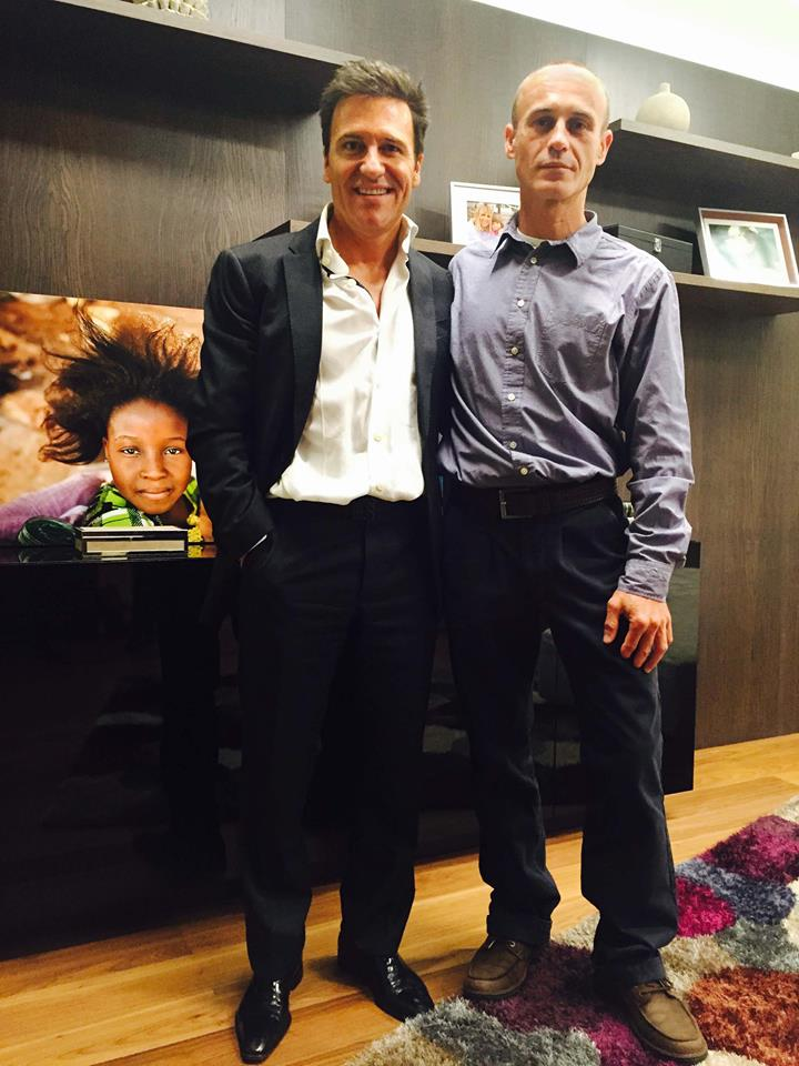 Alfredo Corralero y el Dr. Ivan Mañero